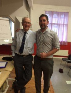 Tim Ryan (PhysioDirect Clinical Manager) and Mr Brian Mulligan himself.