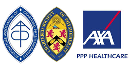 AXA PPP Private Physio Treatments and AACP / CSOP Registered